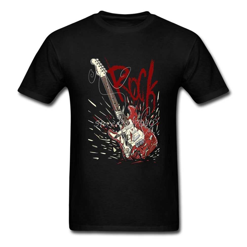 2019 Baru Rock T Shirt CrossFit Pakaian untuk Pria Katun Ukuran Besar Lengan Pendek Gitar Kaos