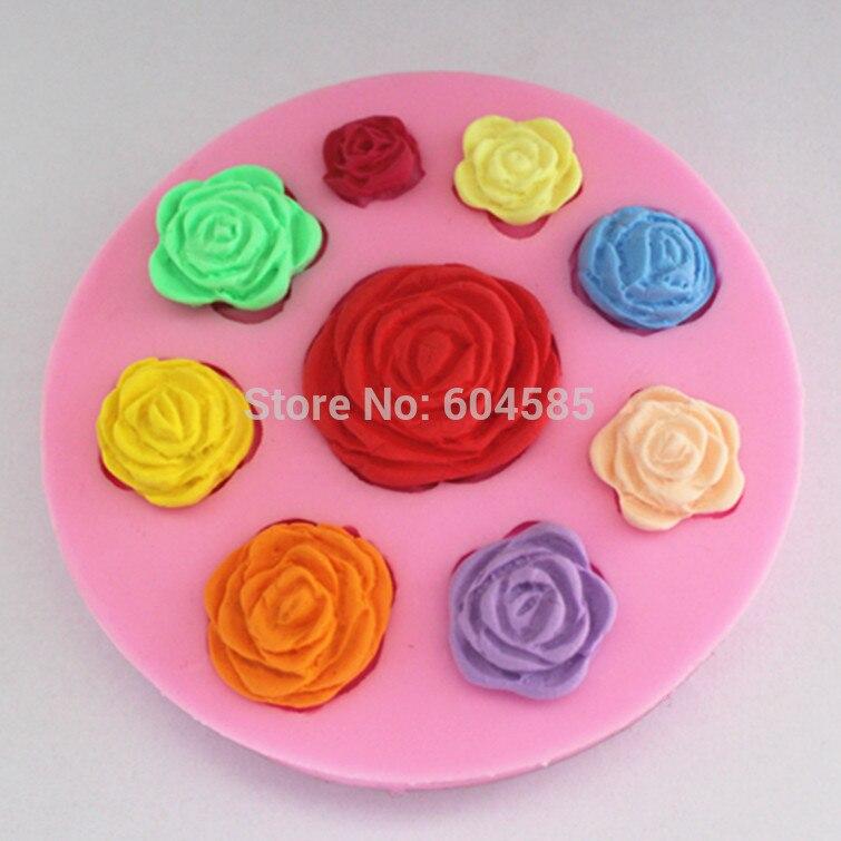 moldes para tartas de chocolate para decorar postres y hornear l/íquidos hechos a mano dise/ño de corazones dobles con flores Moldes de silicona para tartas