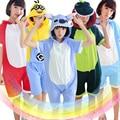 2016 Summer Unisex Cotton Onesies Pyjamas Women Couple Pajamas Sets Totoro Panda Minion Unicorn Cosplay Animal Onesies Sleepwear