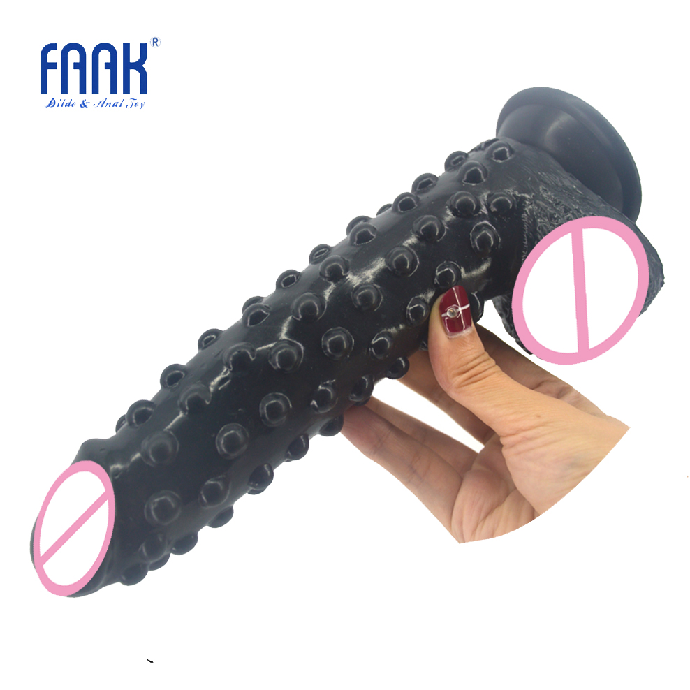FAAK silicone realistic dildo with suction cup raised pointed extreme stimulate anal dildo big fake penis sex toys for women