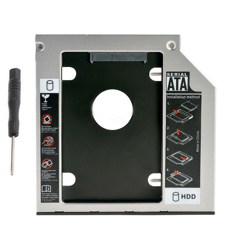 DY-tech 2nd HD SSD SATA Caddy Enclosure Case for Sony VAIO VPCF111FD VPCF111FX VPCF113FX