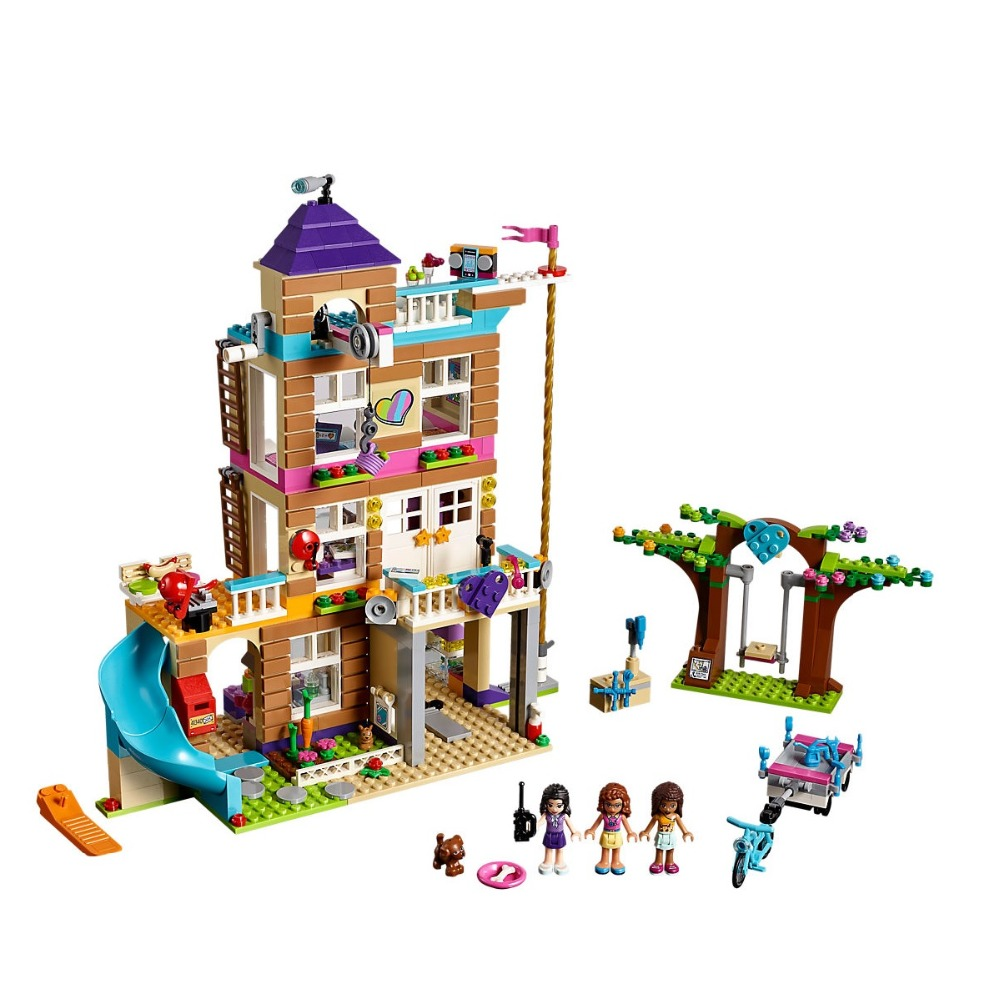 Friends series Girl 808pcs Building Blocks Friendship House kids Bricks toys for children Compatible Friends 41340