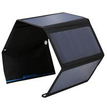High Efficiency Foldable 28W Solar Panel Charger Bag Dual USB Port Solar Charger For iPhone/Smart Phone Sunpower Panel