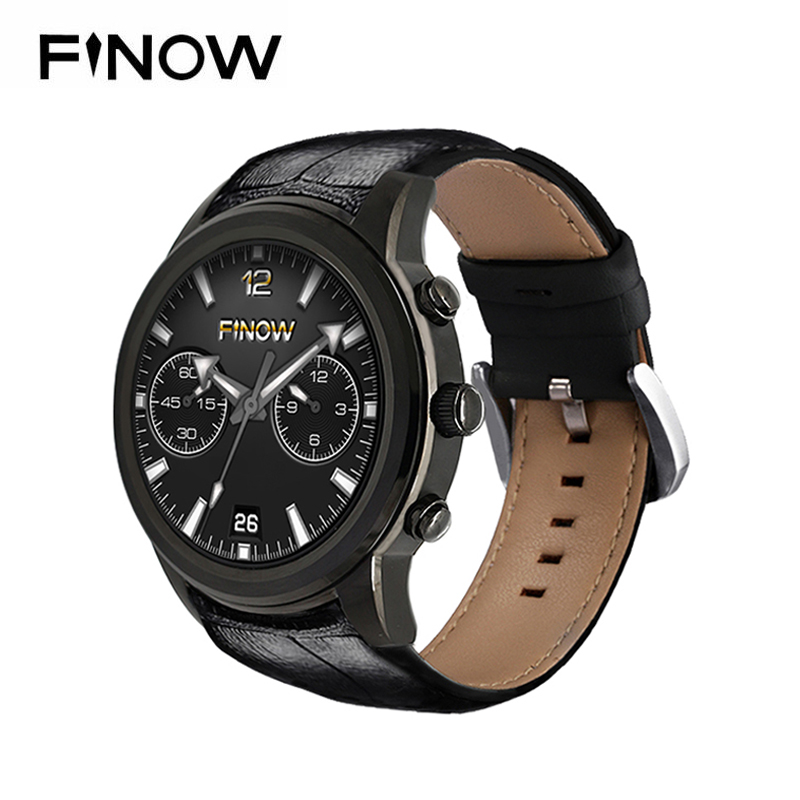 Finow X5 Air Astuto Della Vigilanza Ram 2 GB/Rom 16 GB Nuovo MTK6580 dispositivi indossabili Bluetooth Watchphone Android 5.1 3G Smartwatch per IOS