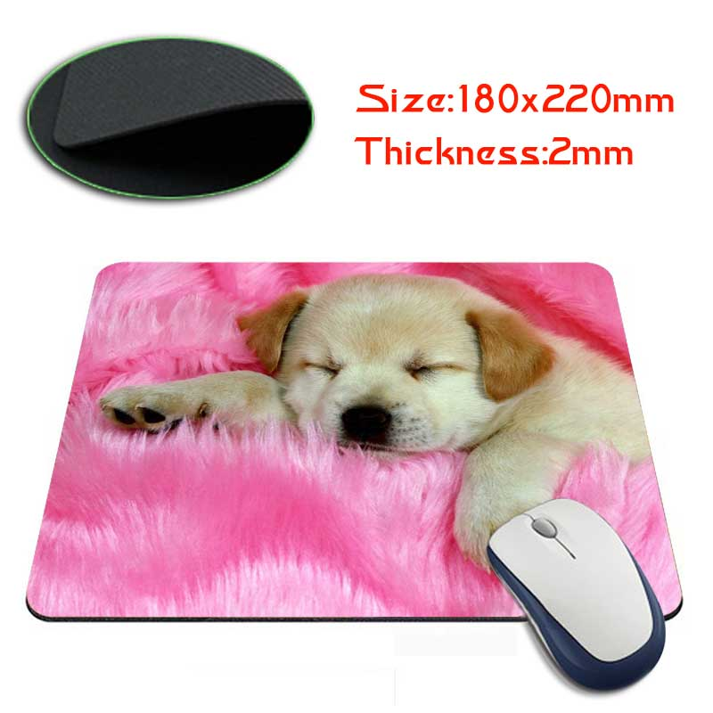 Babaite doggy on pink wallpaper MousePads Computer Gaming Mouse Pad Gamer Play Mats