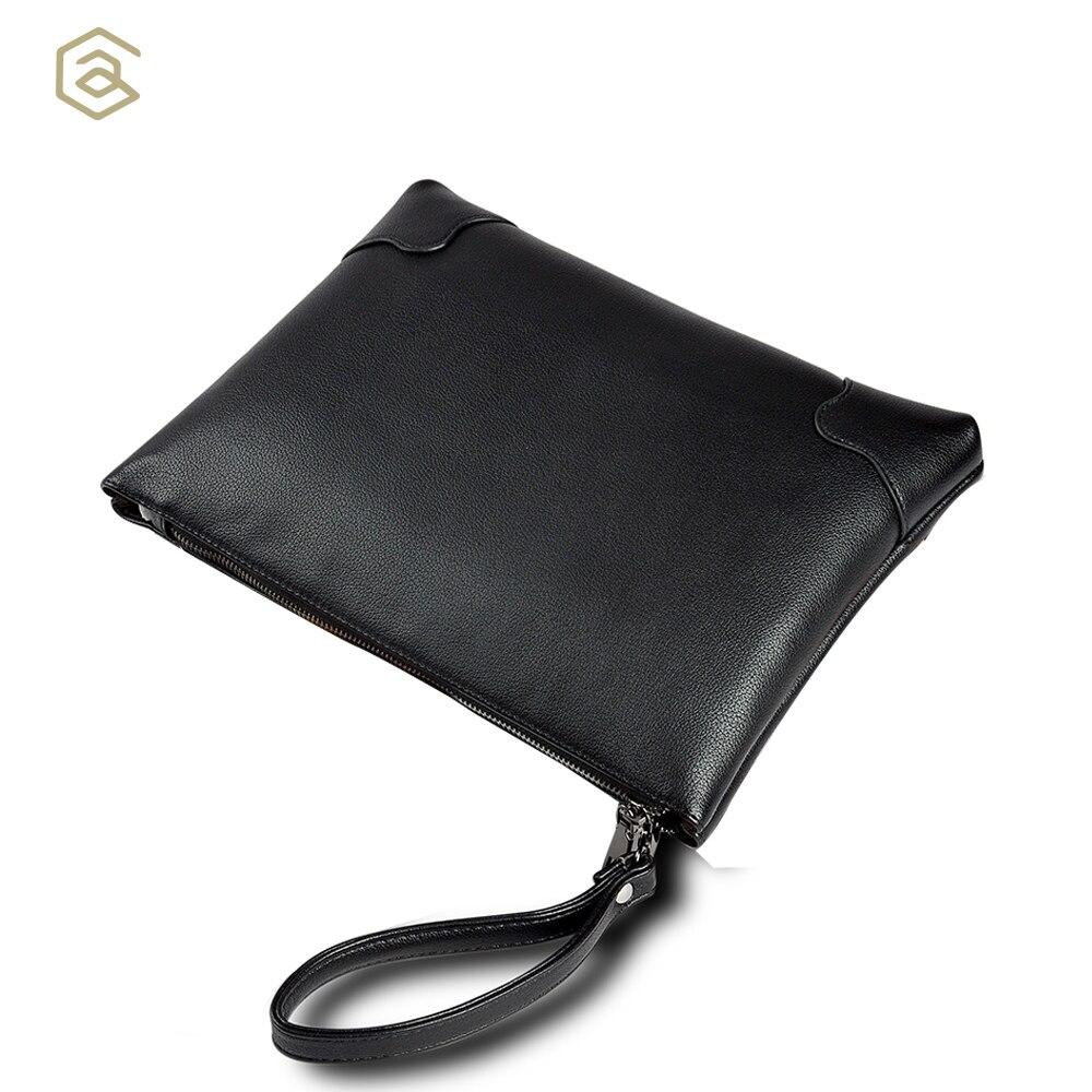 AHRI Men Business Casual bag for Male Black Soft PU Leather Men's Gentlemen Fashion Shoulder Bag Vintage Envelope clutch Men Bag italians gentlemen пиджак