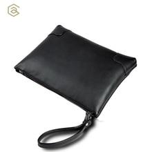 AHRI Men Business Casual bag for Male Black Soft PU Leather Men's Gentlemen Fashion Shoulder Bag Vintage Envelope clutch Men Bag