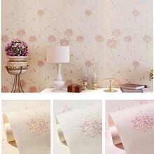 3D Embossed Wallpaper European Flower Home Decor Vinyl Mural Wall Paper Bedroom Living Room Background Wall Coverings