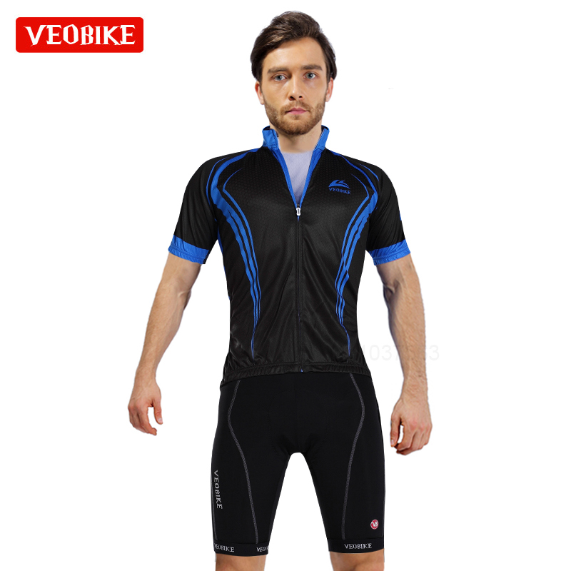 VEOBIKE Brand Pro Summer Bicycle Jersey Breathable Cycling Set Short Sleeve Mountain Bike Clothing 2018 Maillot Ropa Ciclismo polyester summer breathable cycling jerseys pro team italia short sleeve bike clothing mtb ropa ciclismo bicycle maillot gel pad