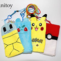 Anime Cartoon Monsters Pikachu Ball Squirtle Bulbasaur Plush Phone Bag Soft Stuffed Animal Dolls for Children Kids' Toy AP0228