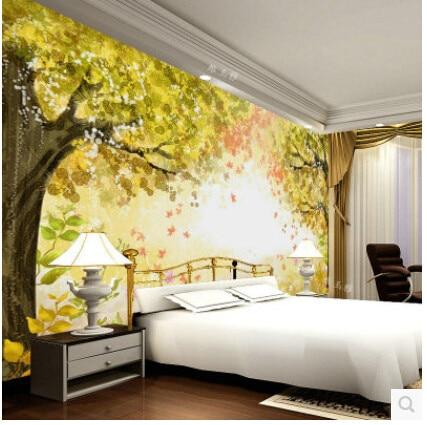 Scenery Forest Wallpaper Mural Desktop 3D For Wall 3d Background Moisture Proof Living Room Bedroom