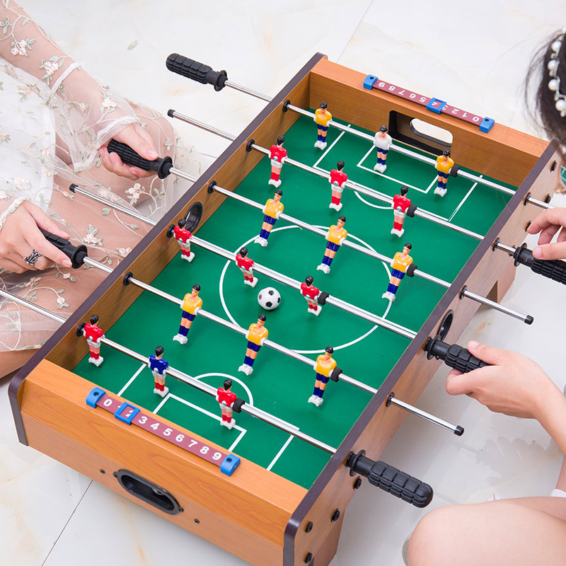 Health environmental protection table soccer machine parent-child game Exercise coordination ability table football game ...