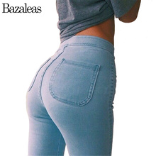 2017 Spring autumn Style Celebrity Women Jeans Stretch Skinny elastic Denim Jean High Waist hip-lifting Pencil Pants(China)
