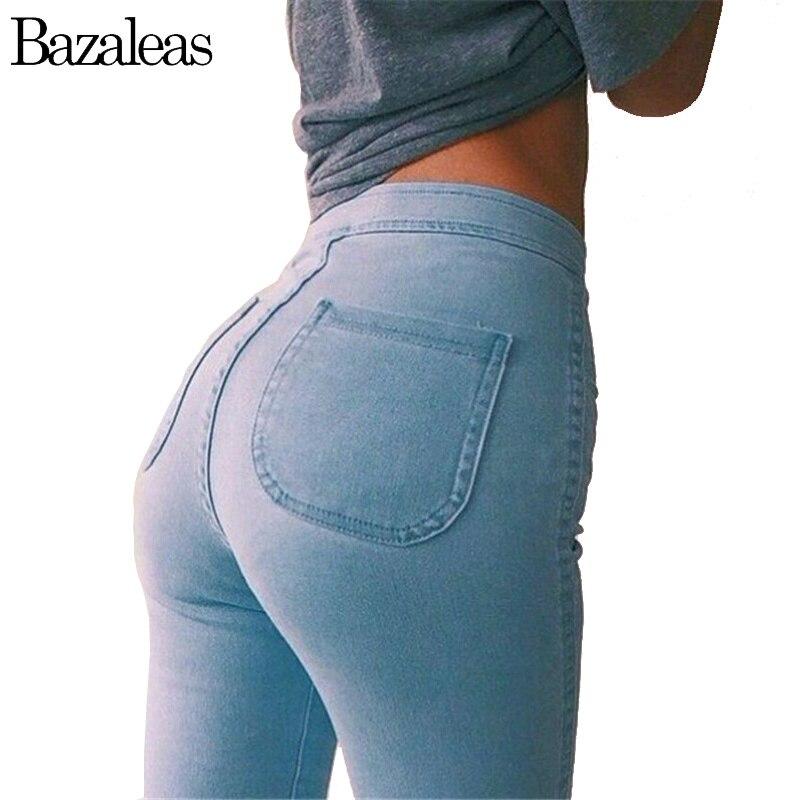 2018 летние Для женщин Джинсы для женщин стрейч узкие брюки эластичные джинсовые Высокая Талия Тонкий Повседневное зауженные джинсы