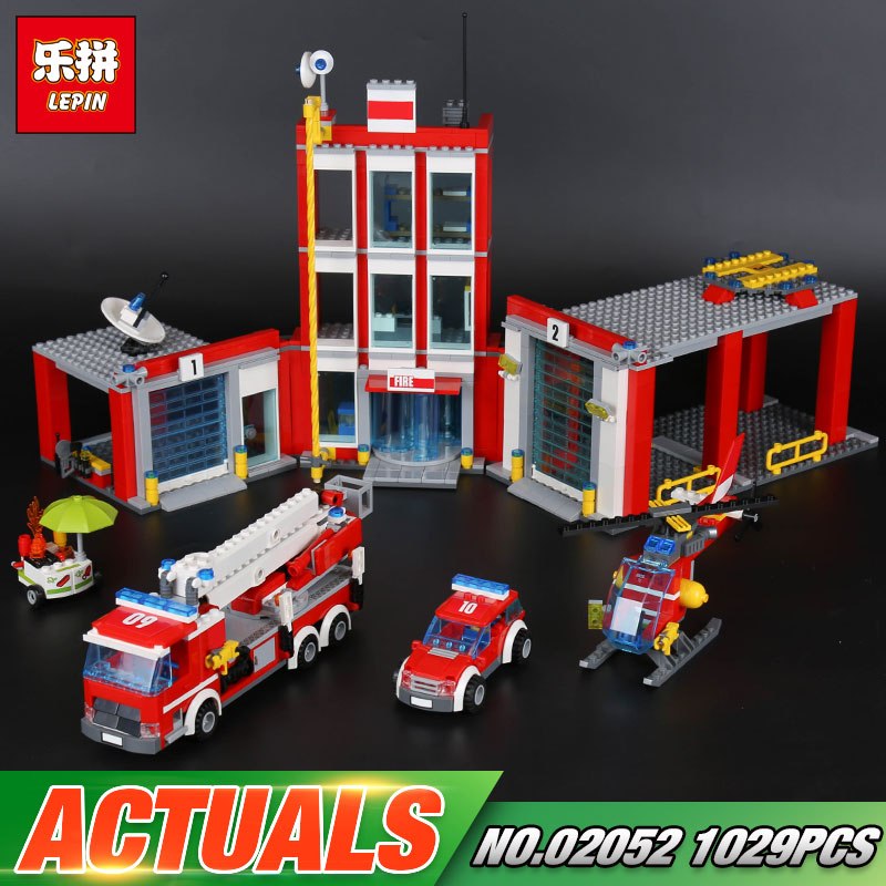 New Lepin 02052 Genuine City Series 1029Pcs The Fire Station Set 60110 Building Blocks Bricks Funny Kid`s Toys As Chritmas Gifts the mortal instruments 6 city of heavenly fire