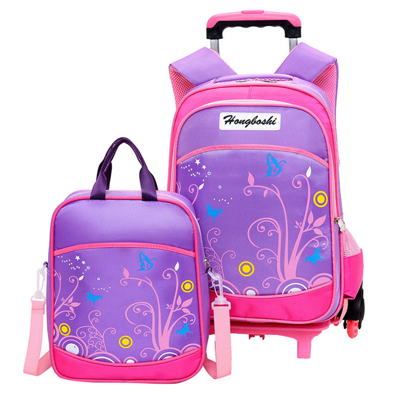 Children School Bags set Kids Suitcase With Wheels Trolley Luggage For Girls Boys Travel Trolley backpack