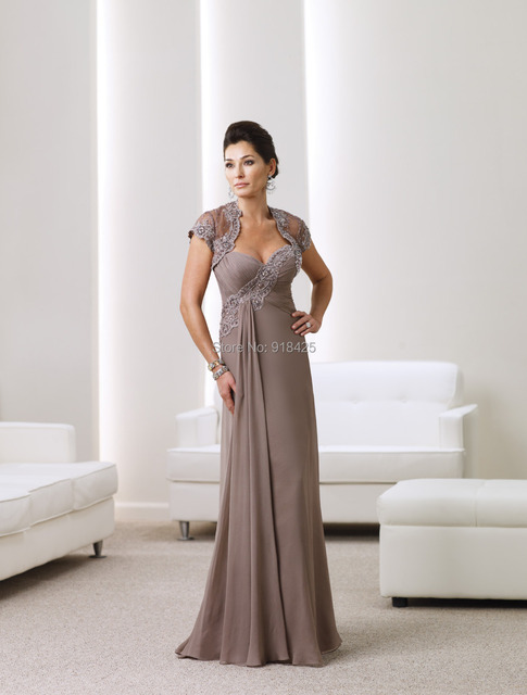 7db9594d4e7 Gorgeous Beaded Lace Sweetheart Chiffon Mother Of The Bride Dresses
