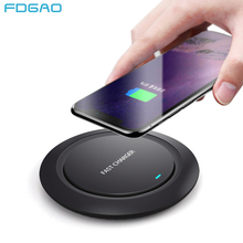 FDGAO Fast Wireless Charger For iPhone XR XS MAX X 8 Plus QI Wireless Charging Pad Usb Quick Charge For Samsung S8 S9 Note 9 8