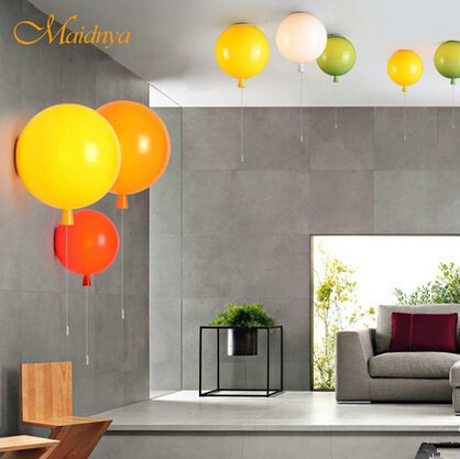 цена Flush Mount Modern LED Ceiling Lights,Colorful Balloon Lamparas De Techo Luminaria Lustres De Sala Ceiling Lamps For Home