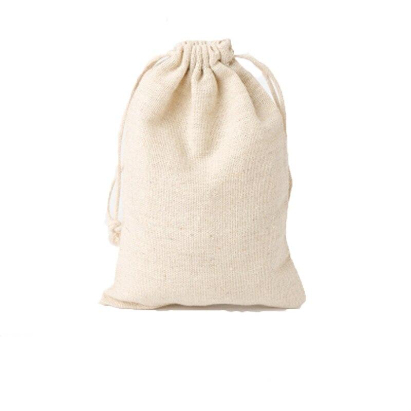 "Купить с кэшбэком Wedding Birthday Party Favor Bags 13x18cm(5""x7"") Necklace Bracelet Jewelry Makup Linen Drawstring Pouches Cotton cloth bag"