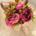 Fashion Bridal Bouquet 2016 Wedding Artificial Flowers Bouquet for Bridesmaids Pink Cheap Gros Bouquets De Mariage Fast Shipping