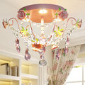 Бесплатная доставка Детские потолочные лампы Pinky дети спальня свет цветочный розовый дизайн потолочный светильник светодиодный источник с...