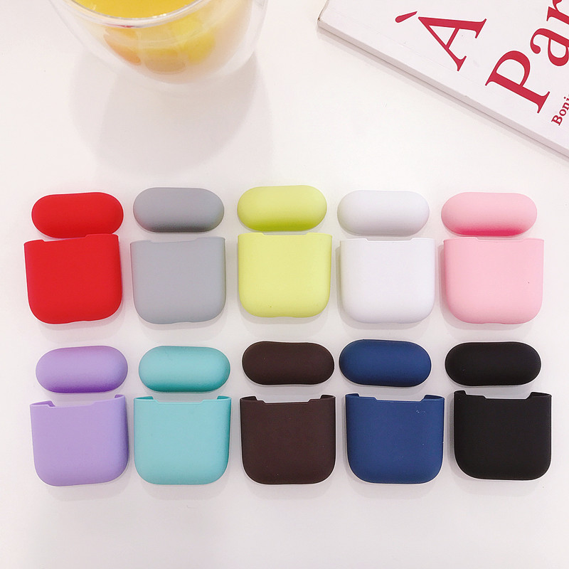 Soft TPU Silicone Bluetooth Wireless Earphone Case For AirPods Protective Cover Skin Accessories for Apple Airpods Charging Box