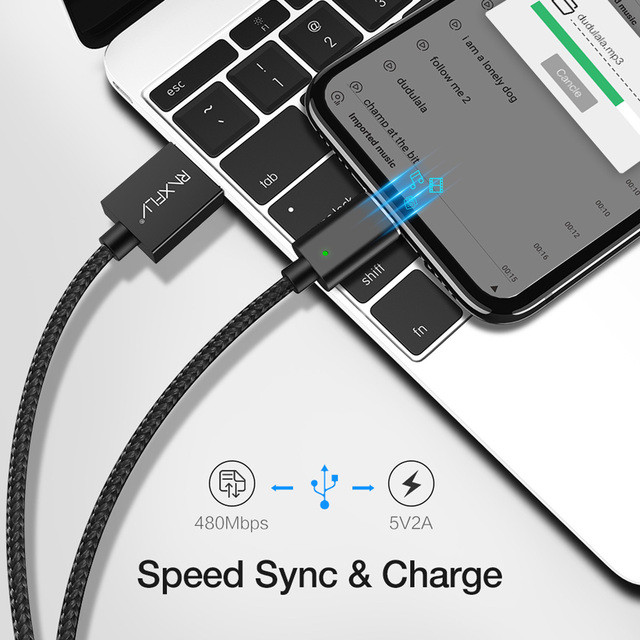 RAXFLY Magnetic Cable For iPhone X 8 7 Charging Wire 2.4A Lightning to USB Cable For iPhone 6 6s 5 5s LED Magnet Charger Cord   3