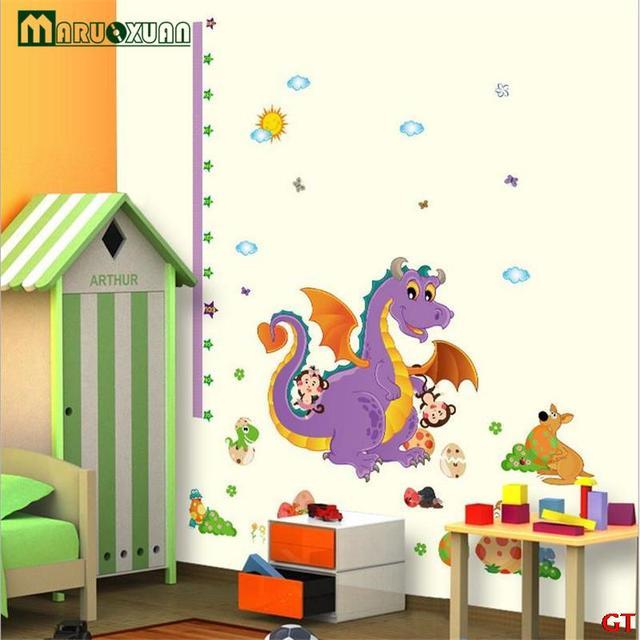 maruoxuan cartoon animals dinosaur wall stickers kids height