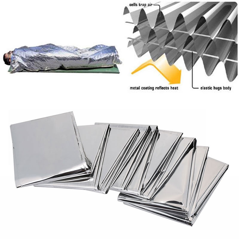 210*130 Outdoor Water Proof  Curtain Military Blanket  Emergency Survival Rescue Blanket Foil Thermal Space Camping Bl