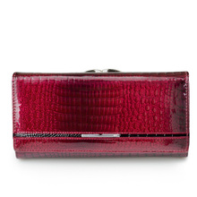 Women Genuine Leather Purse Brand Alligator Pattern Ladies Long Wallets and Purses Real Leather Money Bag with Coin Card Holder new alligator 100% genuine leather men wallets long man purses vintage brand male money bag retro carteira masculina card holder