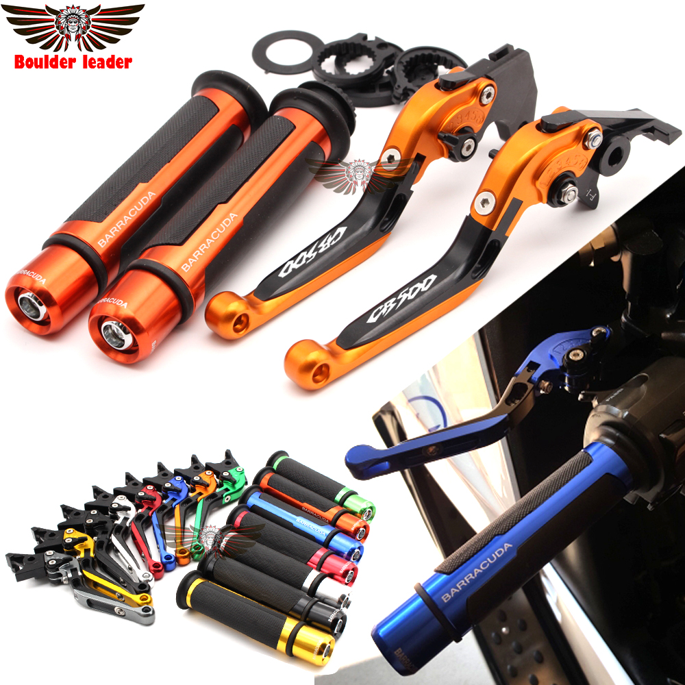 For Honda CB500 CB 500 1998-2003 1999 2000 2001 2002 Motorcycle Adjustable Folding Brake Clutch Levers Handlebar Hand Grips free shipping cnc 6 position short brake clutch lever for honda x 11 1999 2000 2001 2002