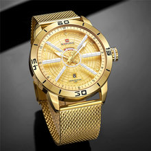 Mens Watches Top Brand Luxury NAVIFORCE Men's Wristwatch Quartz Watch Analog 30M Waterproof Fashion Gold Clock Relogio Masculino naviforce top brand luxury gold steel waterproof watches men quartz watch mens army military wristwatch clock relogio masculino