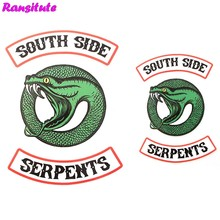 R290 2pcs/set RIVERDALE snake head thermal transfer washable heat transfer children DIY decal decoration badge(China)