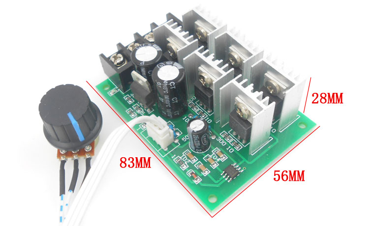 Pwm Dc Motor Speed Controller 40a Motor Drive Power