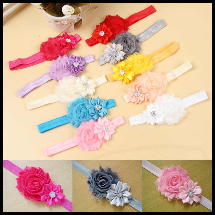 Accesorios de cinta para el cabello para bebés y niños con perlas de flores para niñas pequeñas