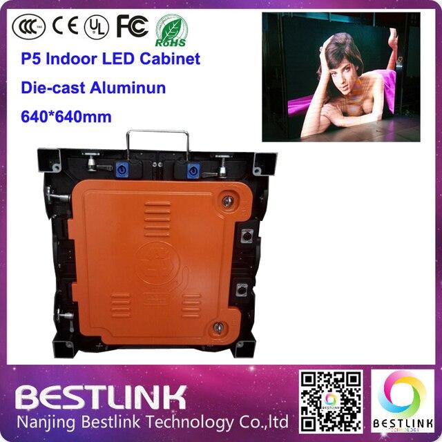 640*640 мм p5 крытый литой алюминиевый корпус rgb led video wall outdoor полноцветный светодиодный рекламный щит цифровая панель