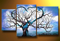 Fashion Hand Painted Oil Painting Home Decor Parlor Wall Art Picture Modern Abstract Colorful Tree Landscape