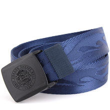 Pure Color Men s Canvas Belts 135CM Black Blue Red Khaki Green Fashion Casual Teen Plastic