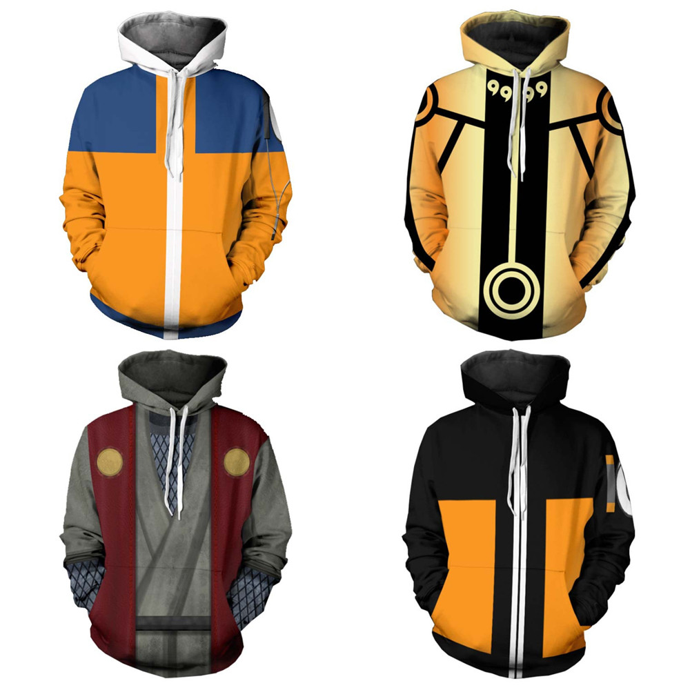 Hokage Uzumaki Naruto Hoodie Sweatshirt Cosplay Hot Sale 3D Kpop Hoodies Women Kawaii Harajuku Autumn Casual Long sleeve Jacket