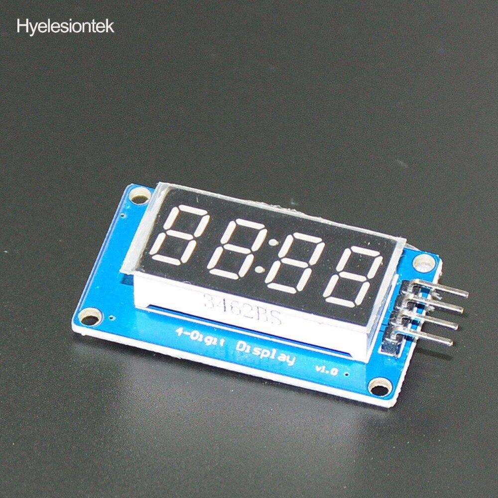 TM1637 светодиодный Дисплей 7-сегментный для синхронизации модуля светодиодный Affichage 4 биты 0,36 дюйма часы красный анод цифровой трубки четыре п...