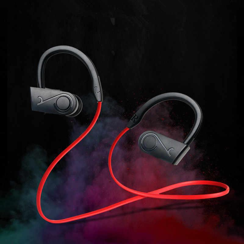 Wodoodporny płomień bezprzewodowe słuchawki bluetooth słuchawki sportowe zestaw słuchawkowy z redukcją szumów z mikrofonem dla iPone X dla Xiaomi Andriod