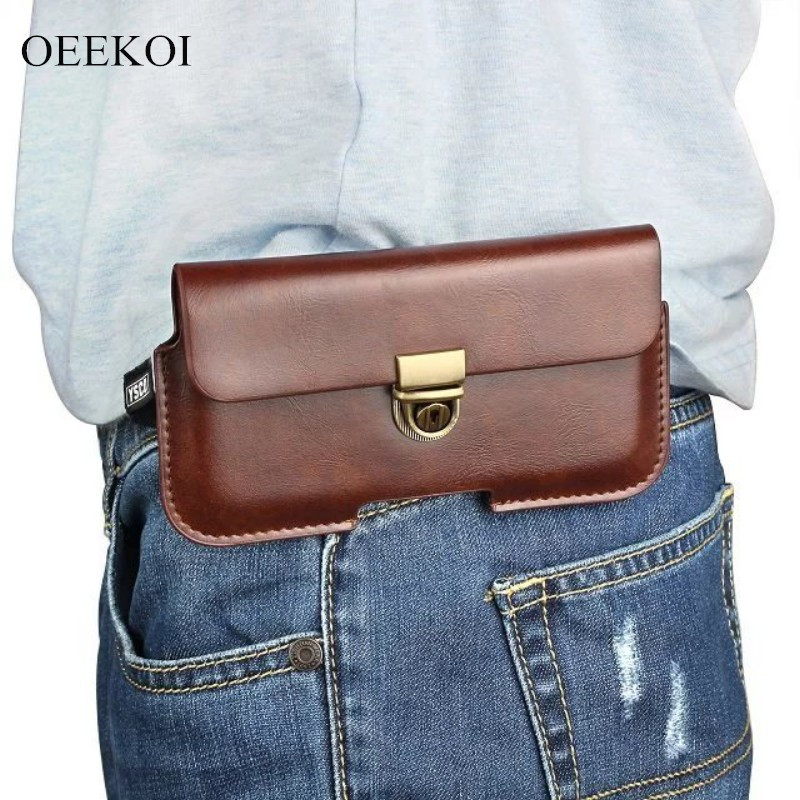 OEEKOI PU Leather Belt Clip Pouch Cover Case for ZTE Anthem/Warp Sequent/Atrial/Mimosa X/Era/Warp N860/Tania 4.3 Inch
