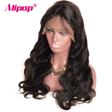 [ALIPOP] 6″x12″ 150% Density Brazilian Body Wave Lace Front Human Hair Wigs For Black Women With Baby Hair Non Remy Lace Wig