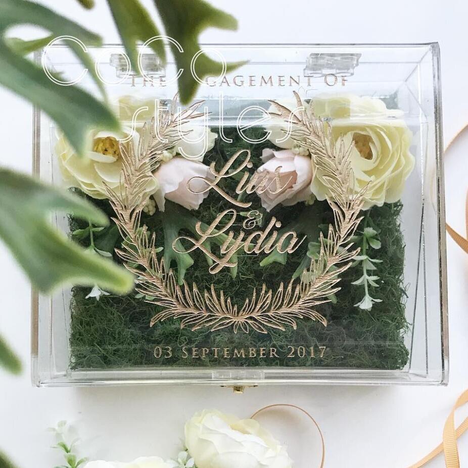 Elegant Wedding Gift: Cocostyles Personalized Blank Fancy Gold Engraving Logo