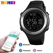 Skmei bluetooth スマートスポーツ腕時計メンズファッションデジタル歩数計カロリーフィットネス時計防水腕時計レロジオ masculino