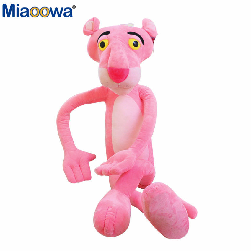 1pc 40cm Lovely Pink Naughty Leopard Pink Panther Plush Stuffed Toys Baby Kids Doll Brinquedos Factory Price1pc 40cm Lovely Pink Naughty Leopard Pink Panther Plush Stuffed Toys Baby Kids Doll Brinquedos Factory Price