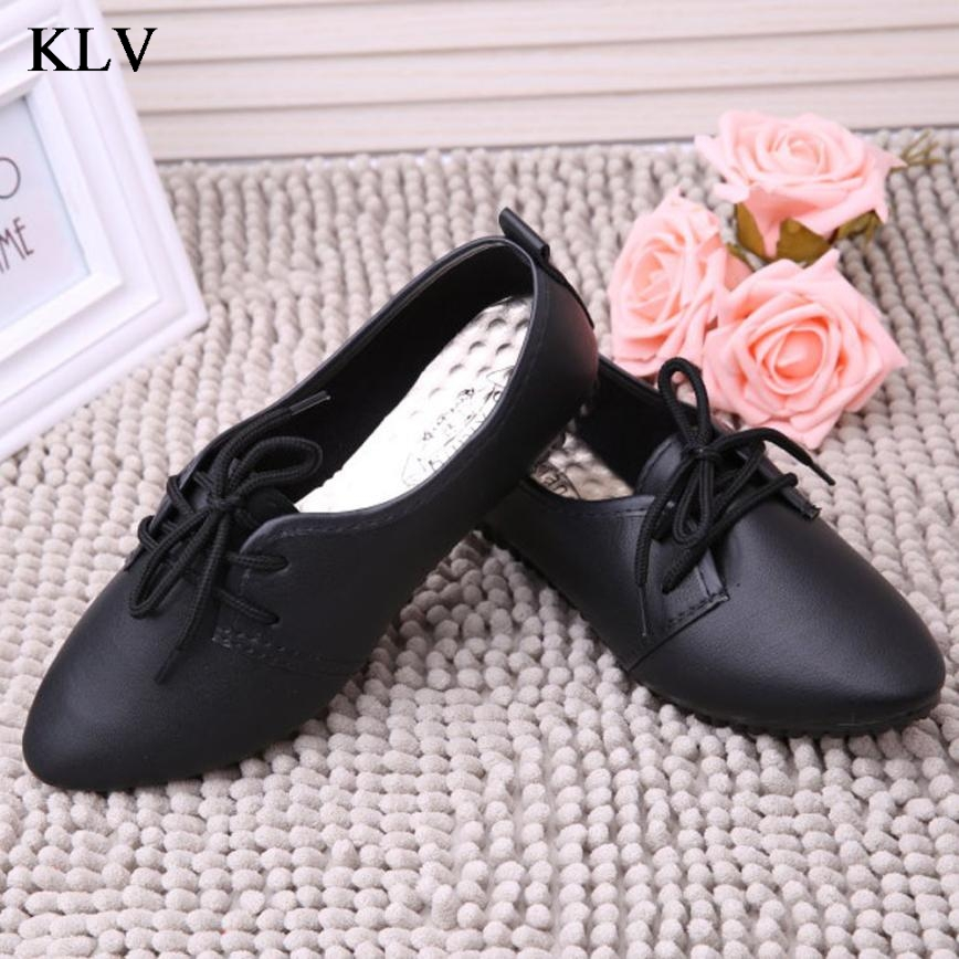 women flats pu leather rubber shoes pointed toe suede lace-up platform derby sapato feminino casual ladies shoes Jan6 summer women shoes casual cutouts lace canvas shoes hollow floral breathable platform flat shoe sapato feminino lace sandals