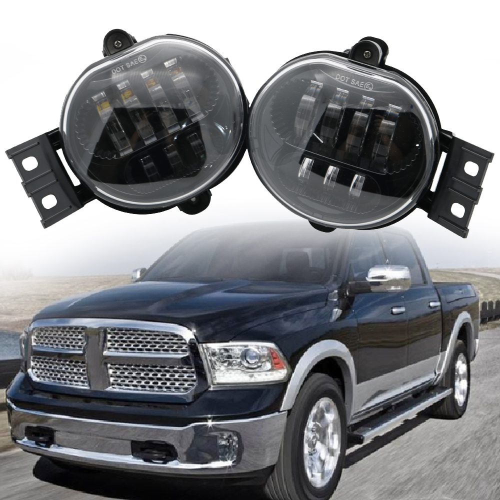 Fog Lamp Assembly 63W Led Fog Light For Dodge Ram 1500 2500 3500 activator ii trailer brake control wire 2010 2012 dodge ram 1500 2500 3500