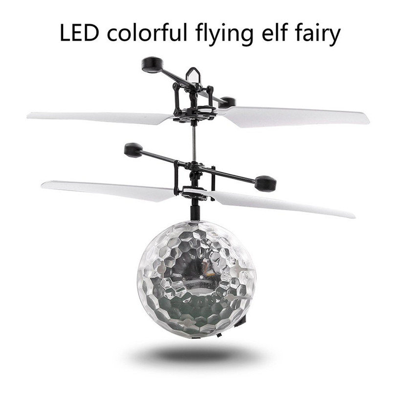 Daidian #4005 RC Toy EpochAir RC Flying Ball Colorful RC Drone Helicopter Ball Built-in Shinning LED Lighting for Kids